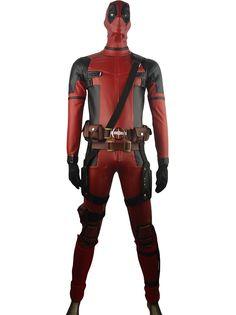 X-Men Deadpool Wade Wilson Deluxe Outfit Jumpsuit Superhero Halloween Cosplay Costume Adults Kids