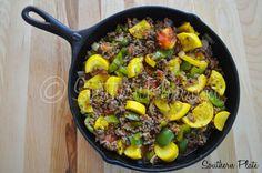 Garden Skillet Supper ~ http://www.southernplate.com