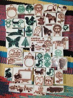 今日も40個達成(>_<)ノの画像 | ART & CRAFT KOTORIの消しゴムはんこ