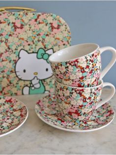 Kids room - Hello Kitty Liberty Tea Set - Berry red