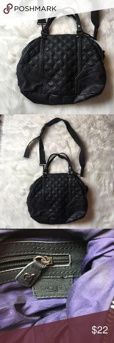 Rachel Rachel Roy black quilted handbag purse Great preowned condition! RACHEL Rachel Roy Bags