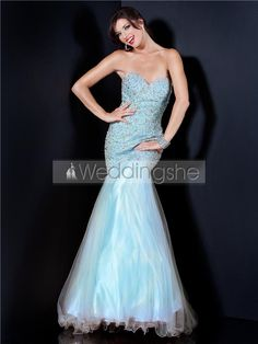 Fabulous Trumpet/Mermaid Floor-Length Sweetheart Beading Evening Dress : Weddingshe.com