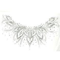 Rhinestone Iron on Transfer Hot Fix Motif Crystal Fashion Design Flowers Line V 3 Sheets 12.9*7.6 Inch Design Flowers line V $40