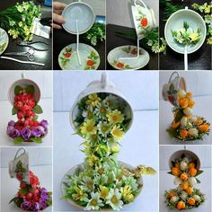 Topiary Flower Flying Cups