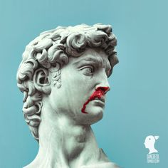 Bleeding Marble Roman Sculpture by Dan Cretu