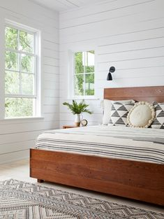 These Scandi-style rooms demonstrate how to master this cozy, minimalist look with style. #minimalist #scandinaviandecor #modernhomedecor #bhg White Wall Bedroom, Accent Wall Bedroom, Cozy Bedroom, Bedroom Ideas, Master Bedroom, Farmhouse Bedroom Furniture, Bedroom Furniture Design, Bedroom Color Schemes, Bedroom Colors