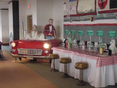 50's party decorations | 50's Soda Fountain Decorations