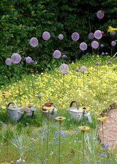 . Fish Garden, Plant Box, Glass Garden Art, Best Mother, Lace Flowers, Land Art, Loire, Beautiful Gardens, Garden Sculpture