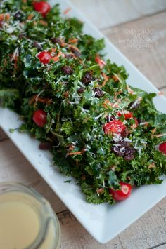 Kale Salad with Lemon Honey Vinaigrette   this heart of mine