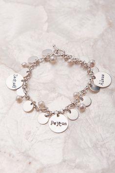 Makes the perfect Christmas Gift!  Mother Charm Bracelet, Personalized Charm Bracelet, Custom Charm Bracelets