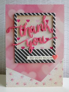 Thank you - 2014-08-24 - koolkittymusings.typepad.com using @wplus9 new Hand Lettered Thanks dies and stamps combined with @crate_paper Flea Market papers.