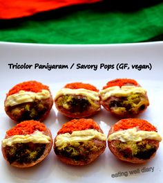 Tricolor Paniyaram / Savory Pops – Independence Day Special (Diabetes Friendly Thursdays) | EATING WELL DIARY