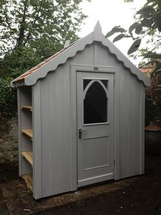 As seen at RHS Chelsea Flower Show, our Chelsea Shed with exterior shelving! a great space optimiser! 2mx1m