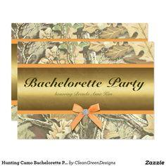 Hunting Camo Bachelorette Party Invitation