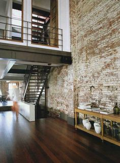 i want to live in an apartment some day with a brick wall.
