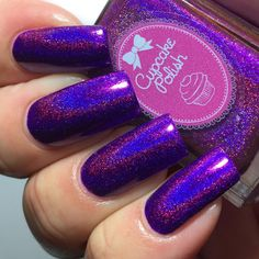 Cupcake Polish: Berry Good Looking ... an amazing holographic nail polish (shown with top coat, which makes it look much darker)