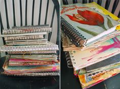 awesome! #stacks #journals #journaling