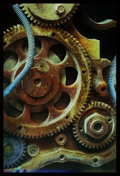 iPhoneography, The Autumn Effect by Armin Mersmann Mechanical Gears, Rust Never Sleeps, Still Life Photos, Peeling Paint, Steampunk Design, Rust Color, Art Plastique, Art Lessons, Metal Working