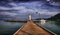 Lighthouse in BangBao village on Koh Chang island