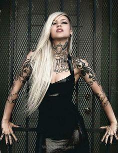 """sadaria-knight: """"deviouz-dollz: """"Sara Fabel"""" S✝K """" Tattoo Girls, Girl Tattoos, Sexy Tattoos, Body Art Tattoos, Tattoos For Women, Tattooed Women, Tattoo Art, Snake Tattoo, Trendy Tattoos"""