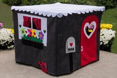 Modern kids playhouse, fabric playhouse, kids playhouse. This playhouse comes…