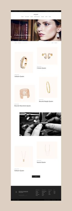 The House of Boucheron is a French family dynasty founded by Frederic Boucheron in 1858.Boucheron makes watches,jewellery, and licenses its marque for perfumes. We were asked, for a school project, to rethink Boucheron digital presence by creating a ric…