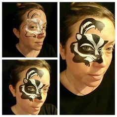 Skunk face painting by kellie A burrus