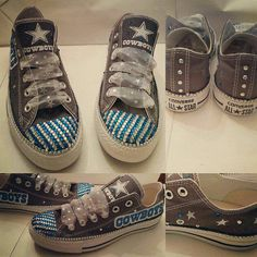Check out this item in my Etsy shop https://www.etsy.com/listing/286775997/cowboys-converse-football-converse