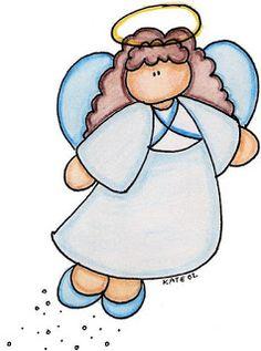 dibujos coloreados de angeles