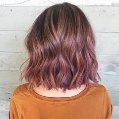 Image result for subtle pink highlights in brown hair