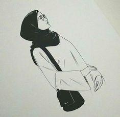 Muslim illustration art Indoor girl drawings Anime muslim Hijab girl drawings for pr Girl Drawing Sketches, Girl Sketch, Pencil Art Drawings, Girl Drawings, Fashion Drawings, Cartoon Kunst, Cartoon Art, Art And Illustration, Hijab Drawing