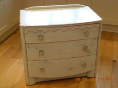 Charlie & Nat - Dressing table painted with Annie Sloan Scandinavian Pink and Old White over the top.  Sanded back to reveal subtle areas of the pink. #paintedfurniture #shabbychic #upcycling #vintage #retro #drawers #AnnieSloan #SuzyLovesVintage
