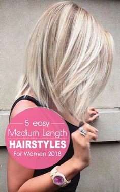 """5 einfache mittellange Frisuren für Frauen 2018 """"If your hair is not so long and not so short that means you can try these 5 Easy Medium Length Hairstyles For Women Here you will find the amazing medium haircuts those are perfect for any season. Medium Hair Cuts, Medium Hair Styles, Short Hair Styles, Long To Medium Haircuts, Prom Hair Updo, Glamorous Hair, Layered Hair, Hairstyles With Bangs, Bob Hairstyle"""