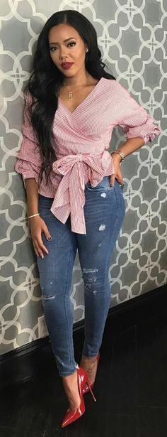 Angela Simmons . Beautiful Spring Outfits. Cute Ootd. Follow @lacedior Pinterest.