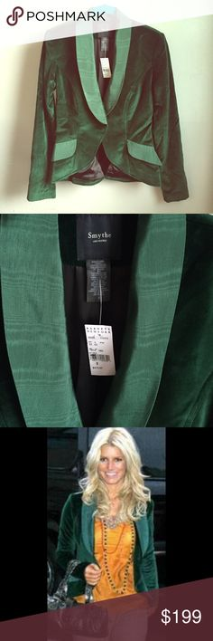 Smythe Green Blazer Gorgeous green {velvet} Smythe blazer! New w/ tags but it's a little wrinkly :) Smythe Jackets & Coats Blazers