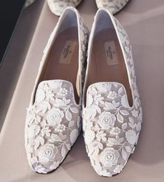 Valentino embellished loafers. Oh so pretty!