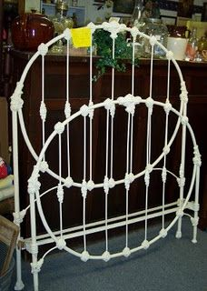 New Arrival! This is a wonderful full size iron bed. Can be converted to a queen size easily. Brass Headboard, Wrought Iron Headboard, Brass Bed, Headboard And Footboard, Metal Headboards, Rod Iron Beds, Cast Iron Beds, Modern Bedroom Furniture, Shabby Chic Furniture