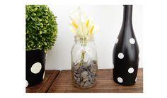 DIY Masor Jar Stone Floral Base