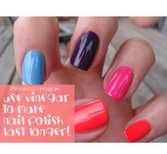 Use vinegar to make nail polish last longer