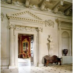Houghton Hall ~ The Saloon seen from the Stone Hall at Houghton Hall.