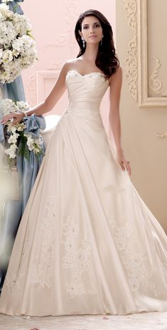 wedding dress from Mon Cheri