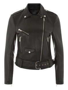 Truman Black Bonded Leather Biker Jacket #Muubaa #AW15
