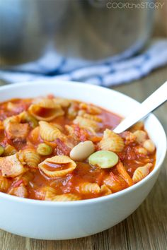 Homemade Pasta e Fagioli Soup in 15 MInutes