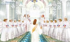 Heaven's story through the pictures > A Room of Promise Heaven Pictures, Jesus Pictures, Heaven Is Real, Kingdom Of Heaven, Golden Hair, Catholic Saints, Jesus Christ, Photo Art, Angel
