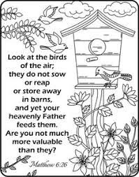 Image Result For Verse Matthew 6 26 Colouring Page Bible Verse