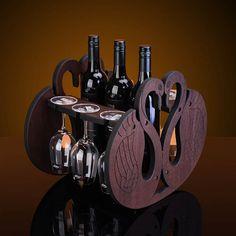 Wood Wine Holder, Wood Wine Racks, Wine Glass Holder, Wine Cart, Wine Glass Storage, Wine Stand, Wine Table, Mosaic Diy, Wine Bottle Holders