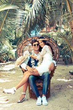 tropical wedding - brides of adelaide magazine - bride and groom