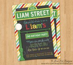 Sesame Street Birthday Invitation - Printable, For Boys  Girls