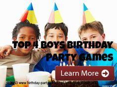 Boys Birthday Party Games - Birthday Party Ideas