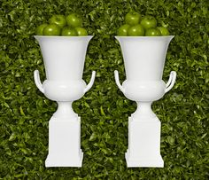 Traditional two-handled trophy silhouette on a pedestal mount and modernized it in glossy white. $99.95 #zgallerie